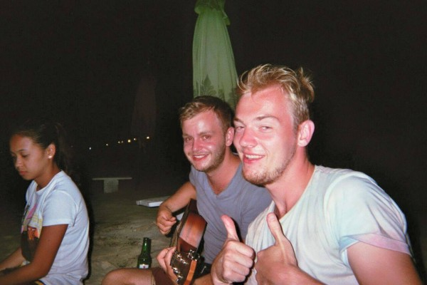 At Gili, Indonesia. In the left corner you see one of the girls that helped us to get our likes.